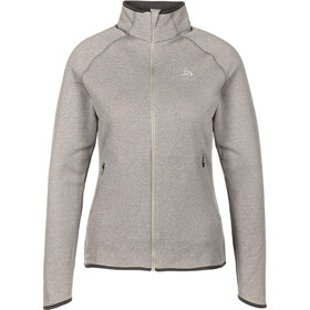 Odlo Carve Ceramiwarm Full-Zip Midlayer Damen grey melange